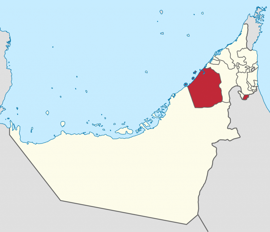 Emirate Of Dubai - Wikipedia - Outline Map Of Uae Printable
