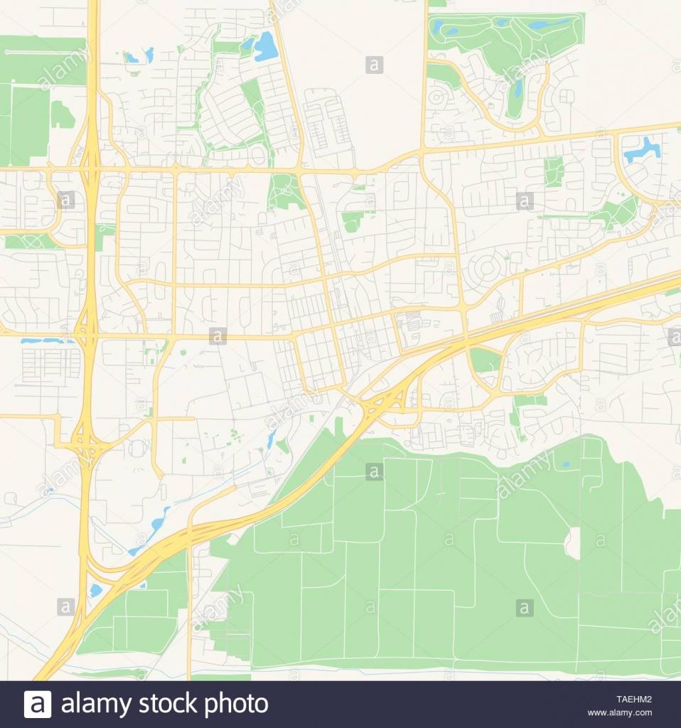 Empty Vector Map Of Davis, California, Usa, Printable Road Map - Davis California Map