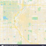Empty Vector Map Of Denver, Colorado, Usa, Printable Road Map   Printable Road Map Of Colorado