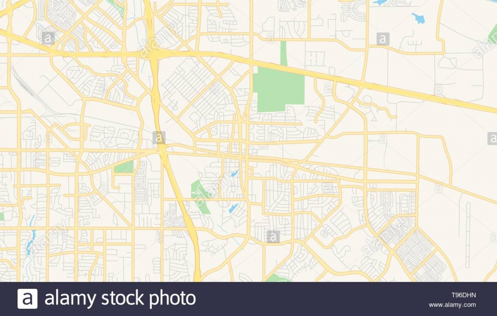 Empty Vector Map Of Mesquite, Texas, Usa, Printable Road Map Created - Mesquite Texas Map