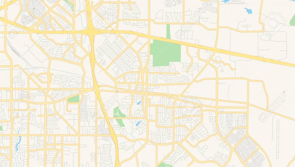 Empty Vector Map Of Mesquite, Texas, Usa, Printable Road Map.. - Mesquite Texas Map