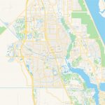Empty Vector Map Of Port St. Lucie, Florida, Usa | Hebstreits Sketches   Map Of Florida With Port St Lucie