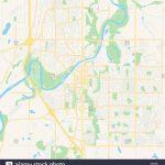 Empty Vector Map Of Red Deer, Alberta, Canada, Printable Road Map   Printable Alberta Road Map
