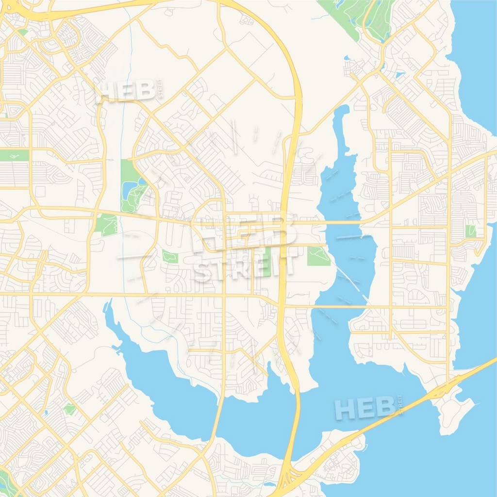 Empty Vector Map Of Rowlett, Texas, Usa | Maps Vector Downloads - Rowlett Texas Map