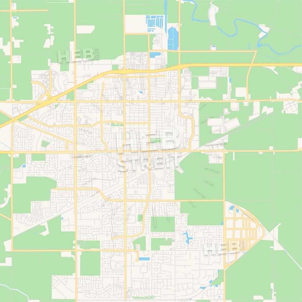 Empty Vector Map Of Tracy, California, Usa   Maps Vector Downloads - Tracy California Map