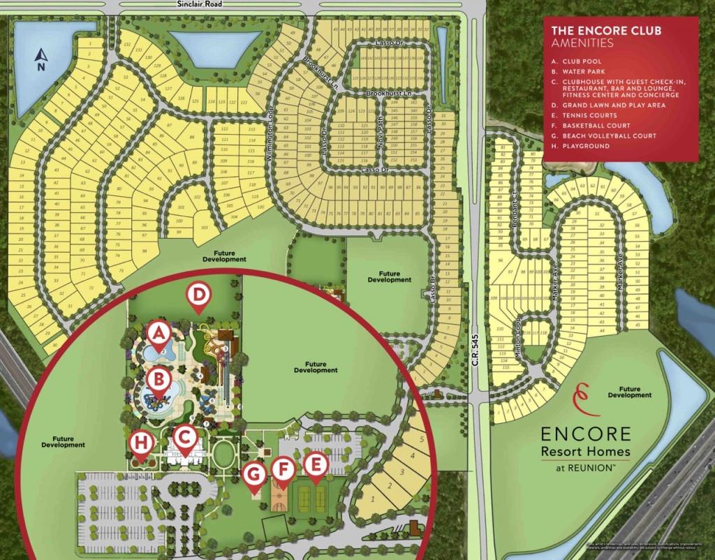 Encore Resort Homes At Reunion - Encore Club At Reunion - Reunion Florida Map