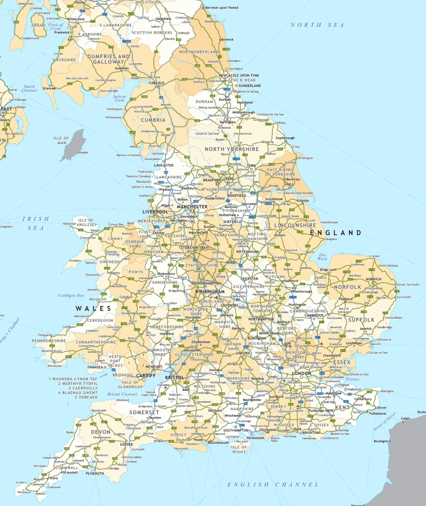 England Road Map - Printable Road Maps Uk