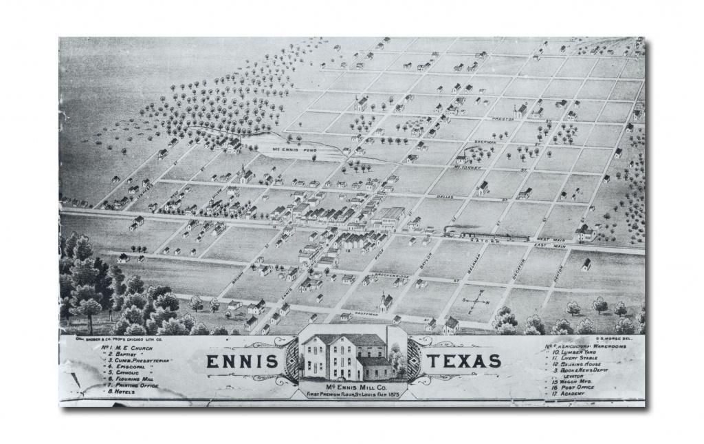 Ennis City Map - Ennis Texas • Mappery | Genealogy | Ennis Texas - Ennis Texas Map
