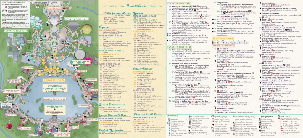 Epcot Flower & Garden Festival Map 2019 At Walt Disney World - Epcot Florida Map