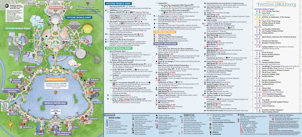 Epcot International Festival Of The Holidays Map 2018 At Walt Disney - Epcot Florida Map