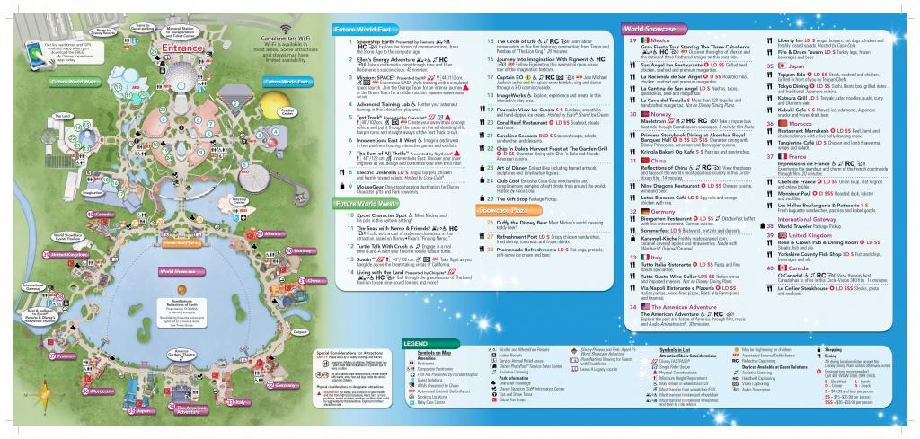 Epcot-Map-2 | Dis Blog - Printable Map Of Epcot 2015