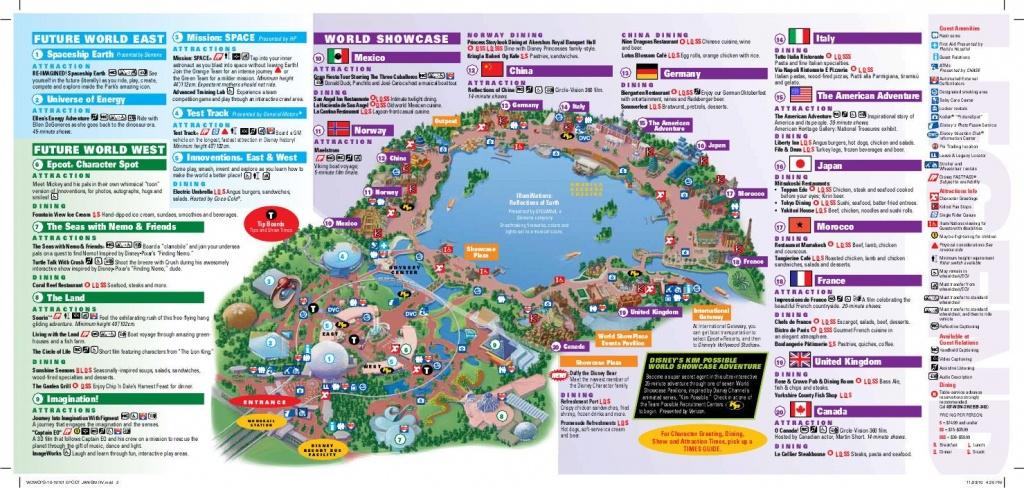 Epcot Map | Wdw -- Epcot | Disney World Map, Epcot Map, Disney Map - Printable Map Of Epcot 2015