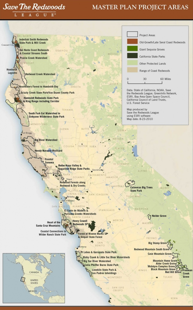 Esri Arcwatch October 2010 - Conserving Earth's Gentle Giants - California Redwoods Map