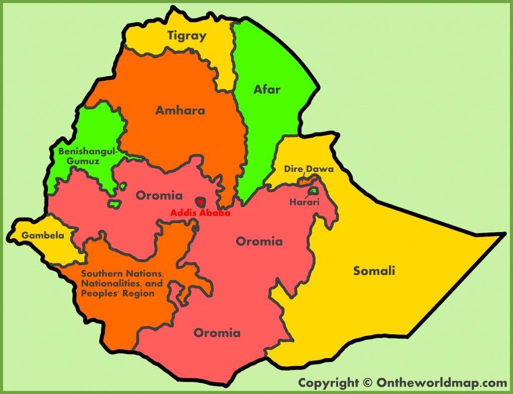Ethiopia Maps | Maps Of Ethiopia - Printable Map Of Ethiopia