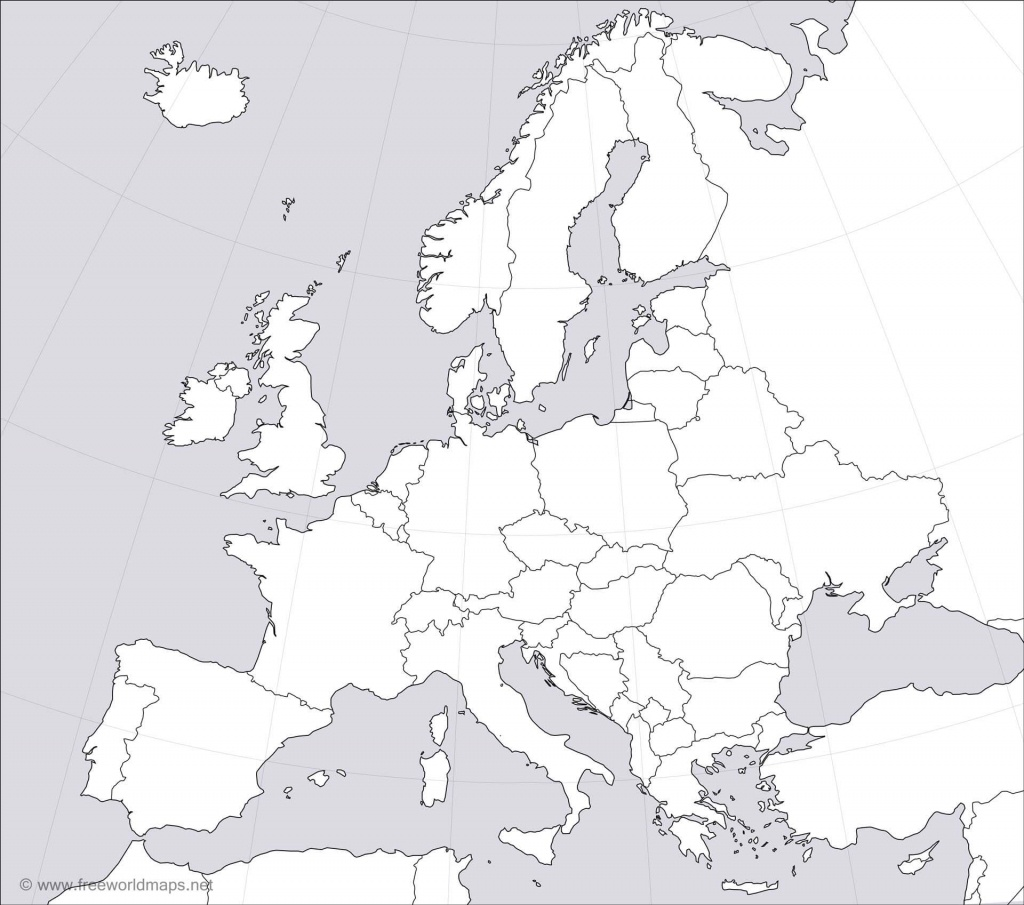 Europe Blank Map - Printable Blank Physical Map Of Europe