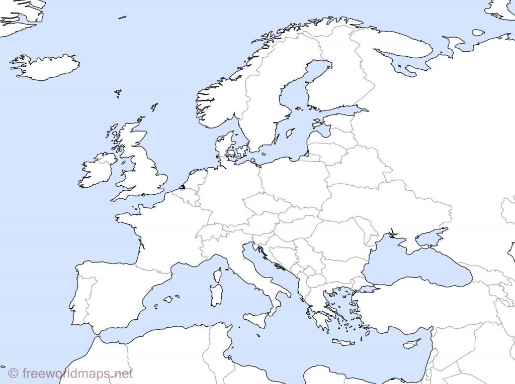Europe Outline Maps -Freeworldmaps - Europe Outline Map Printable