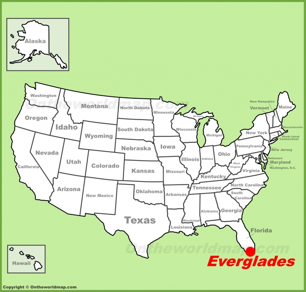 Everglades National Park Maps | Usa | Maps Of Everglades National - Florida Everglades Map