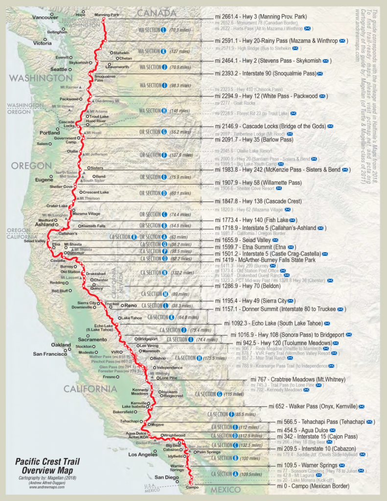 Everything You Need To Know About Hiking The Pacific Crest Trail - Backpacking Maps California