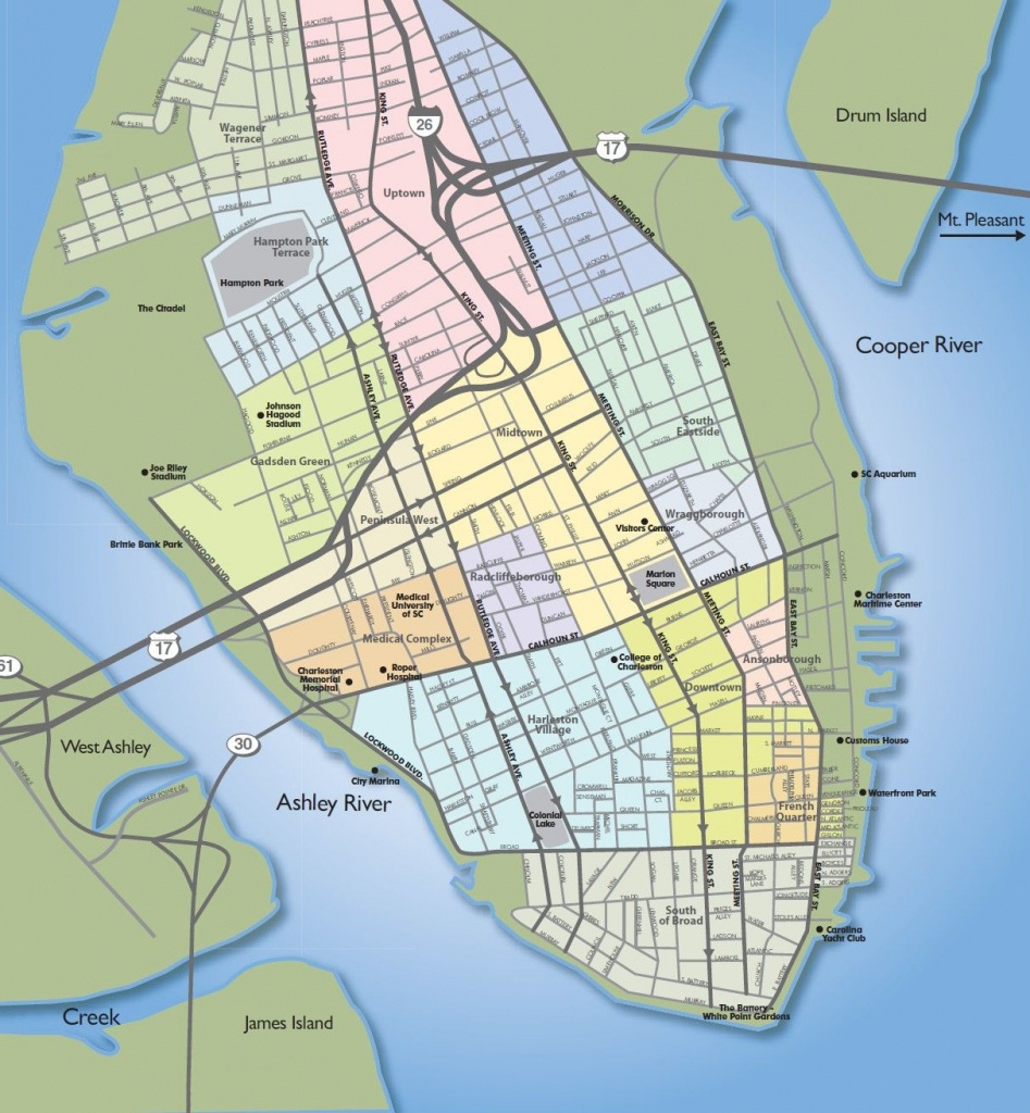 Example Of Poor Intellectual Hierarchy In A Map.   Maps Of - Printable Map Of Charleston Sc Historic District