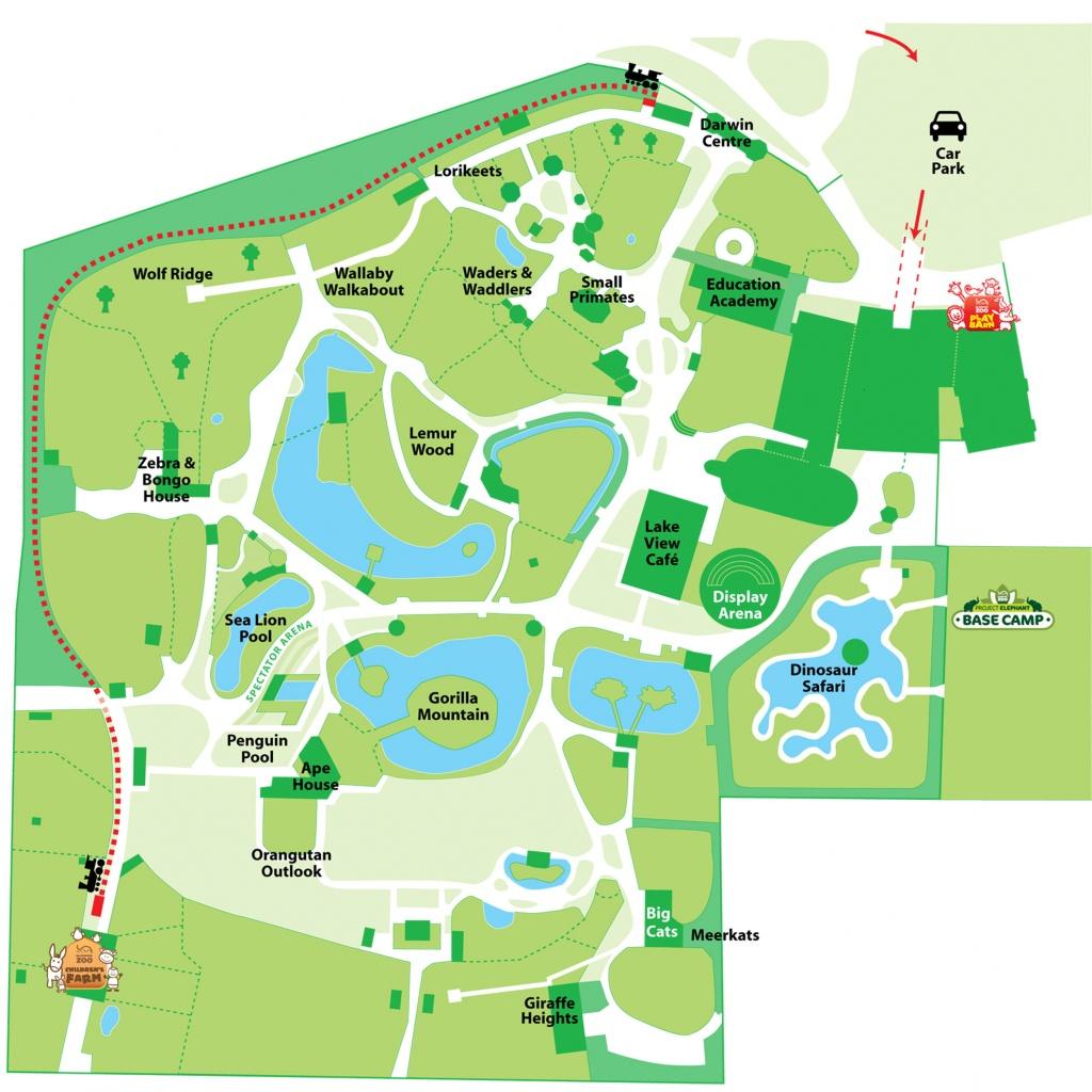 Explore Our Map | Blackpool Zoo - Blackpool Tourist Map Printable