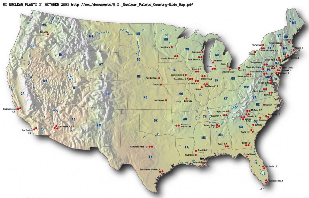 Eyeballing 104 Nuclear Reactors At 63 Power Plants - Power Plants In Texas Map