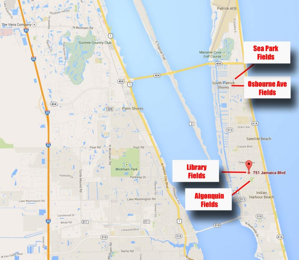 Facilities – Brevard Beachside Soccer Club - Satellite Beach Florida Map