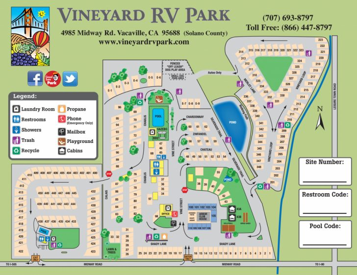 California Rv Campgrounds Map
