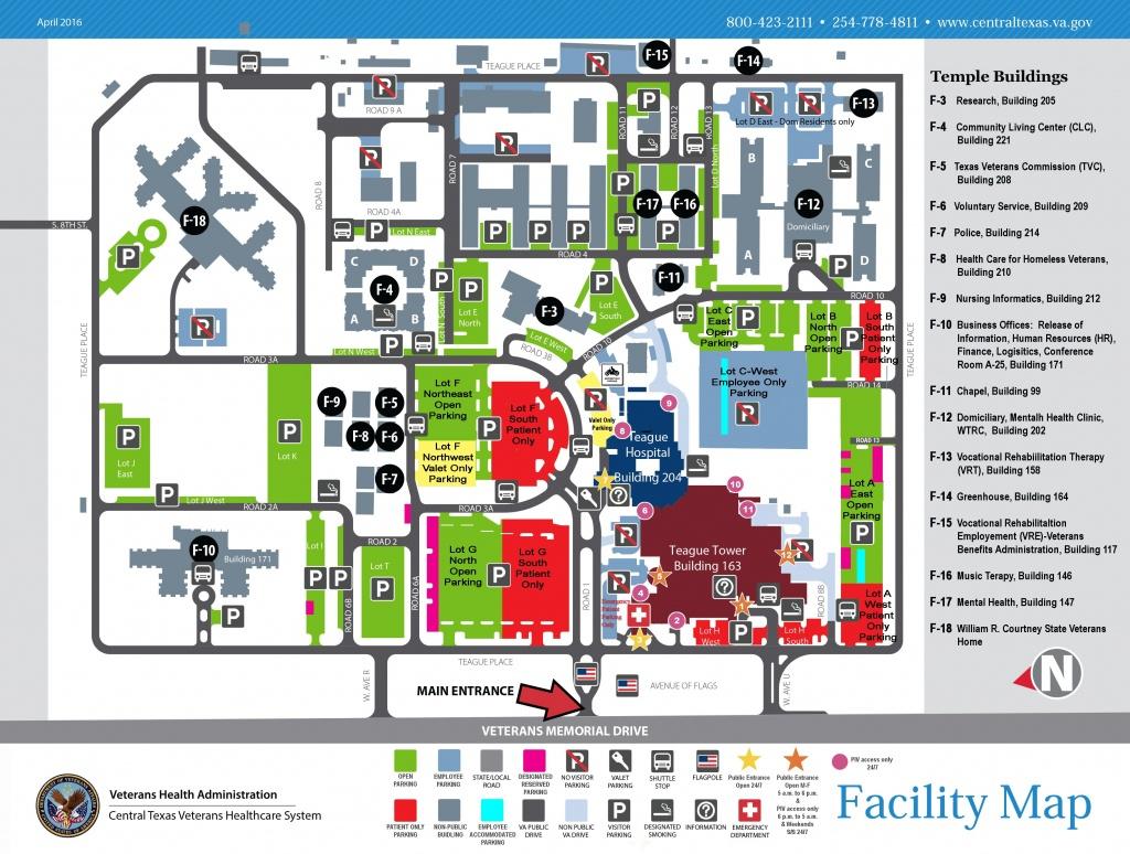 Facility Maps - Central Texas Veterans Health Care System - Texas Health Dallas Map