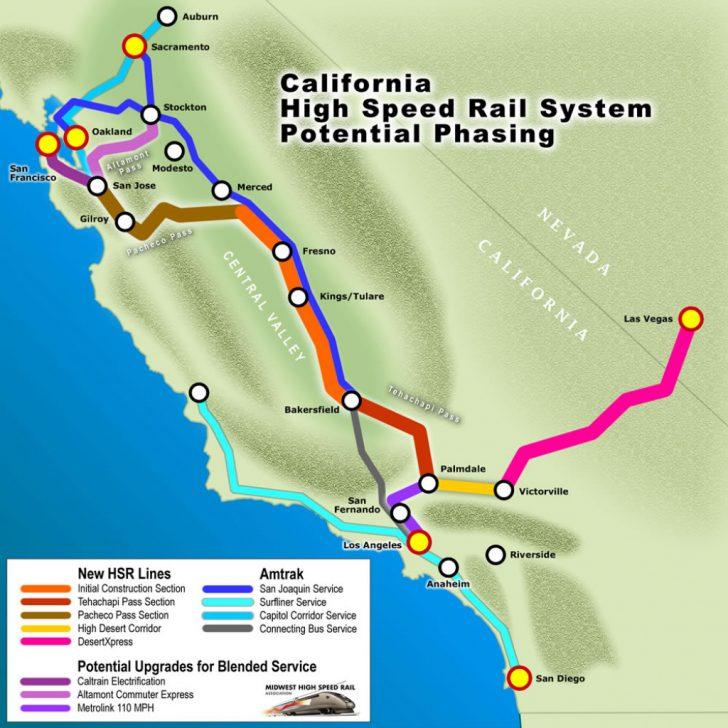 High Speed Rail California Map