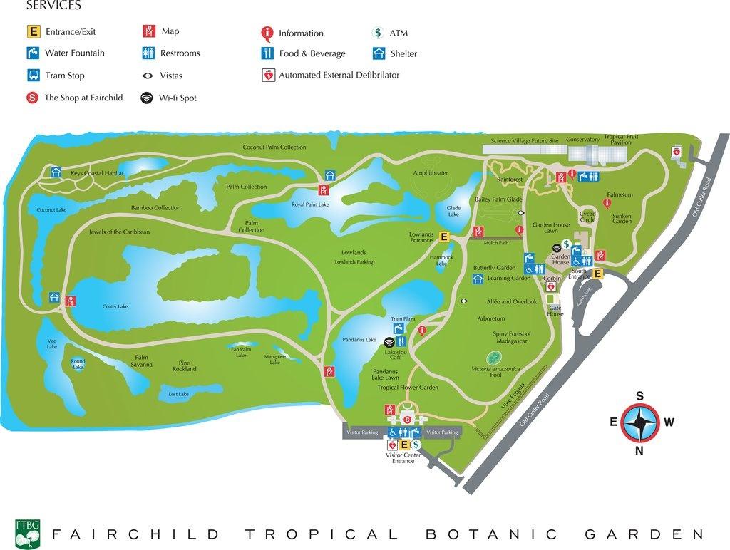 Fairchild Tropical Botanic Garden - Maplets - Florida Botanical Gardens Map