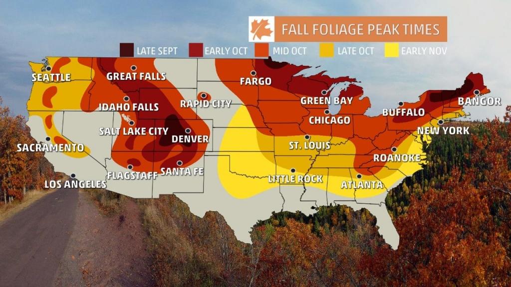 Fall Foliage Finder - Following Fall - California Fall Color Map