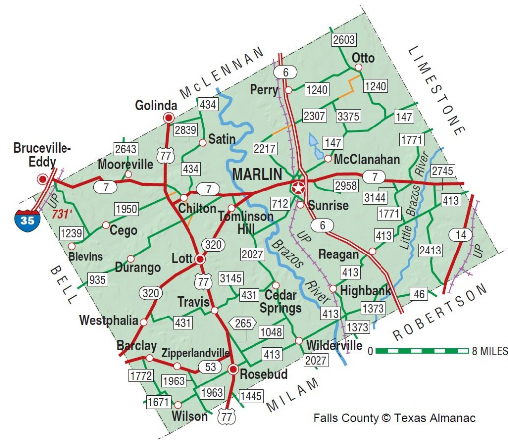 Falls County | The Handbook Of Texas Online| Texas State Historical - Where Is Marble Falls Texas On The Map