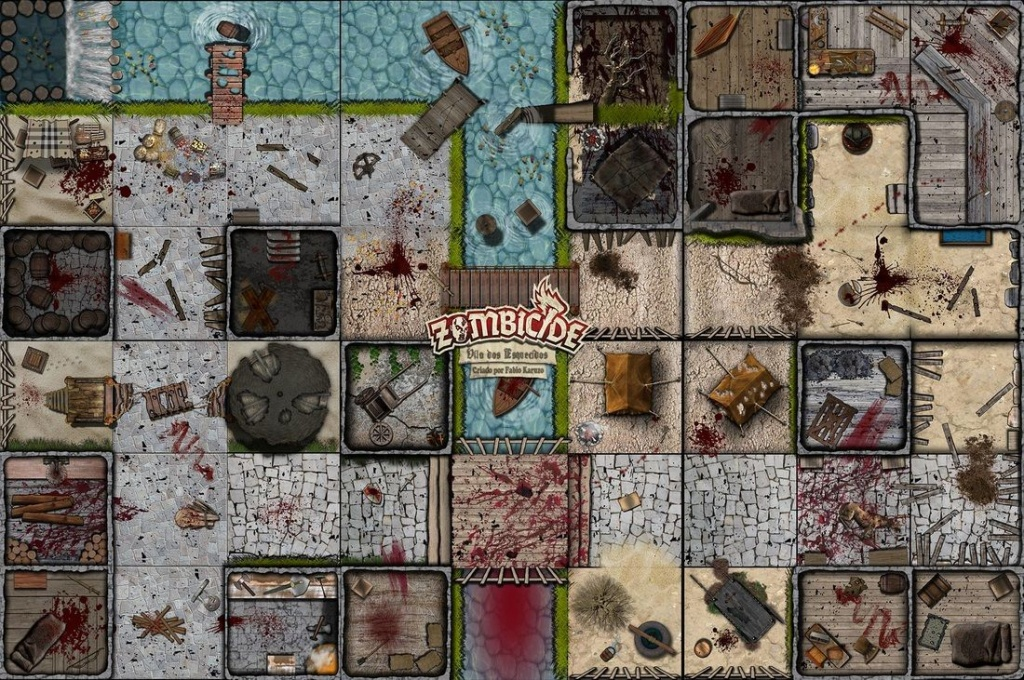 Fan Made Zombicide Game Tiles, Maps And The Scenarios To Play Them - Star Wars Miniatures Printable Maps