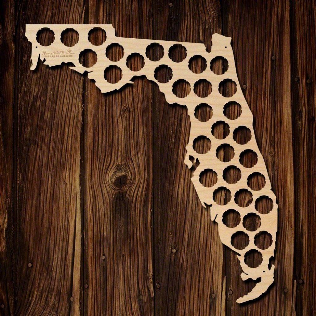 Fancy - Florida Beer Cap Map   Beer Thirty   Beer Caps, Beer, Beer - Florida Beer Cap Map