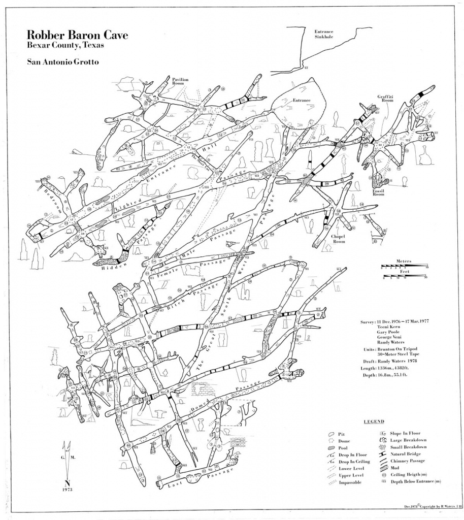 Faults And Caves - Caves In Texas Map