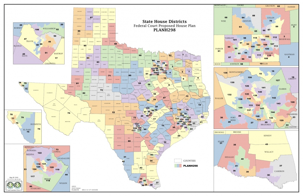 Federal Judges Propose Maps For Texas Legislative Races | The Texas - Texas Us Representative District Map