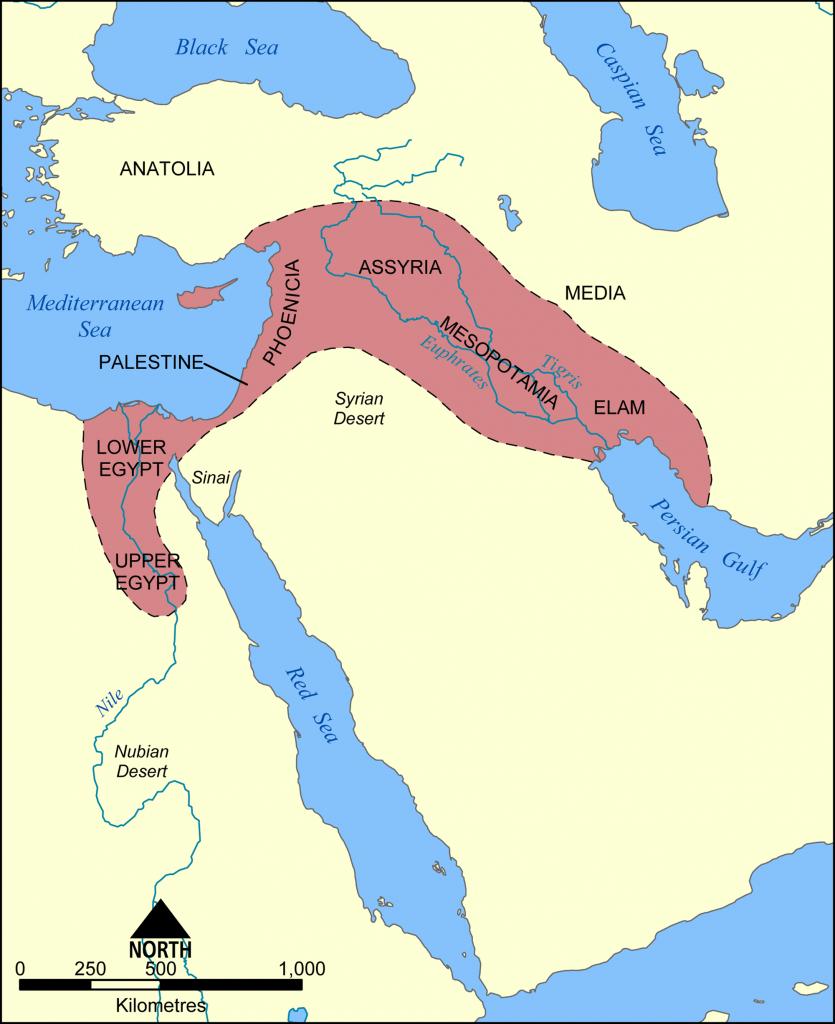 Fertile Crescent Map - Color Week 1   Cycle 1 Geo   Ancient - Fertile Crescent Map Printable