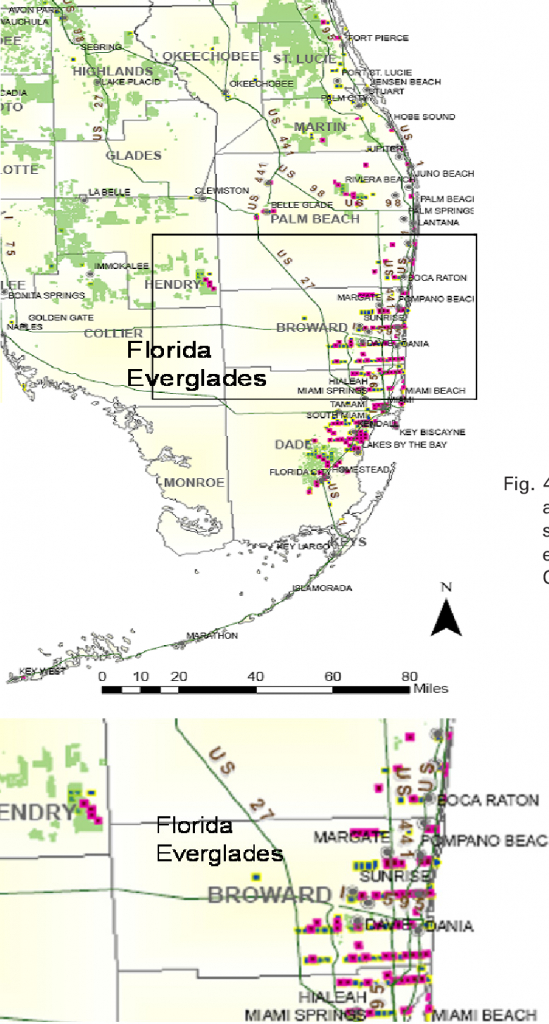 Figure 4 From 1 Huanglongbing ( Citrus Greening ) In Florida , 2008 - Florida Citrus Greening Map