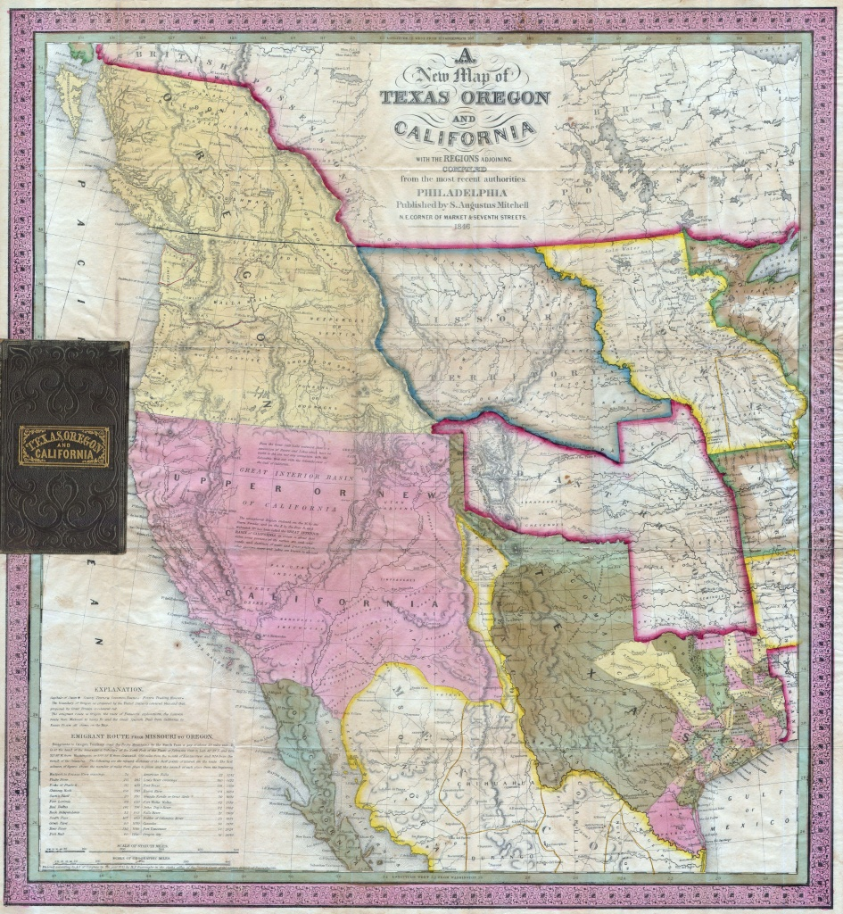 File:1846 Mitchell's Map Of Texas Oregon And California - California Territory Map