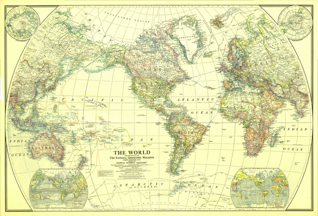 File:1922 World Map - Wikimedia Commons - National Geographic Printable Maps
