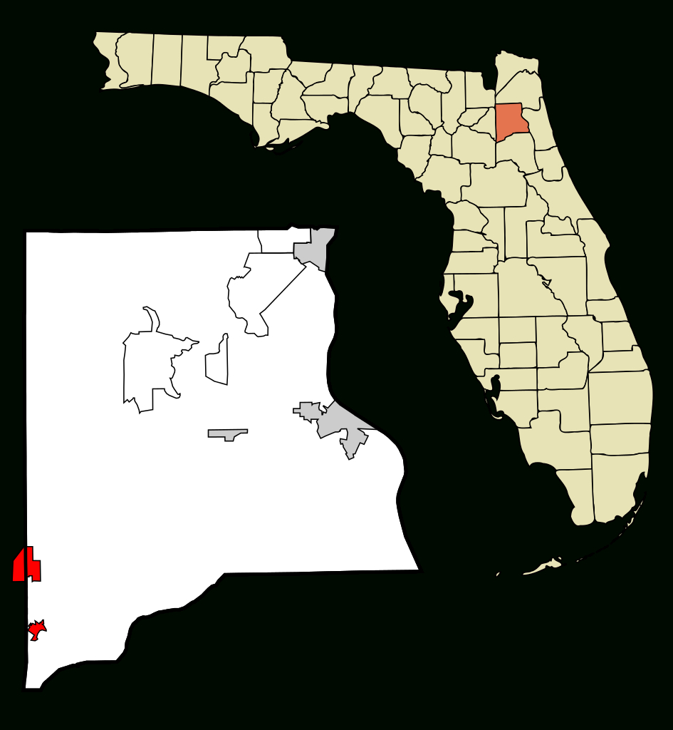 File:clay County Florida Incorporated And Unincorporated Areas - Citrus Cove Florida Map