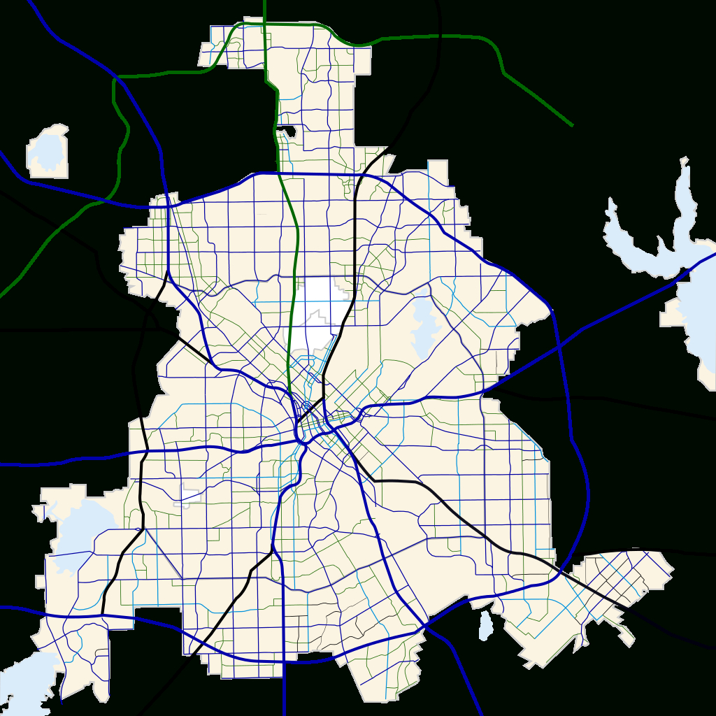 File:dallas, Texas Road Map.svg - Wikimedia Commons - Dallas Texas Highway Map