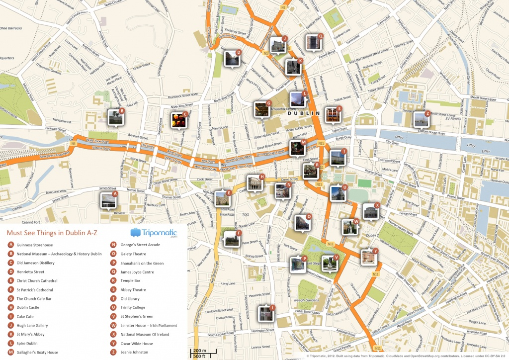 File:dublin Printable Tourist Attractions Map - Wikimedia Commons - Printable Map Of Dublin