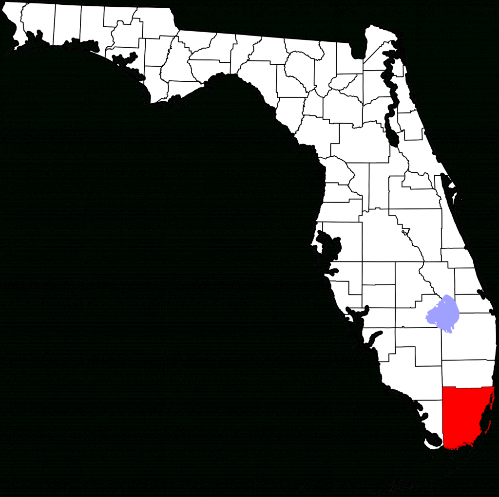 File:map Of Florida Highlighting Miami-Dade County.svg - Wikipedia - The Map Of Miami Florida