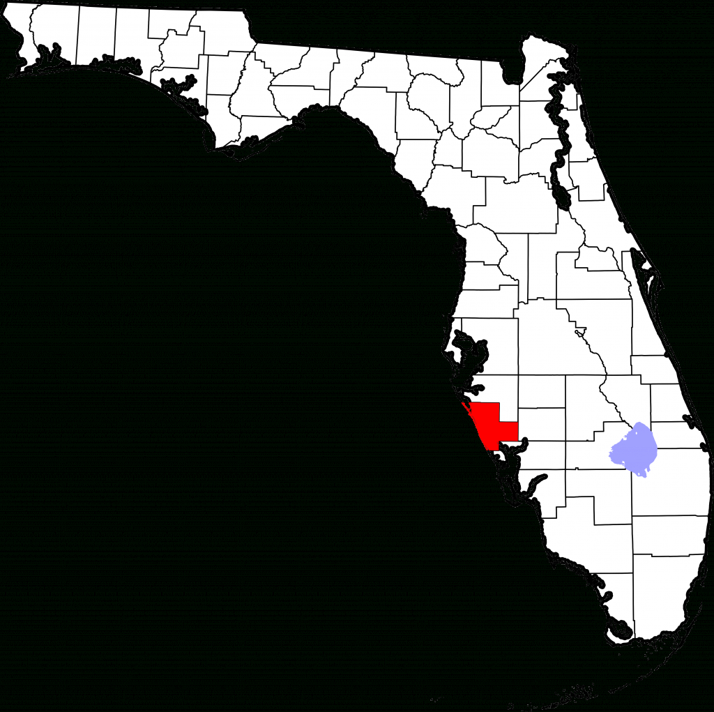 File:map Of Florida Highlighting Sarasota County.svg - Wikipedia - Osprey Florida Map