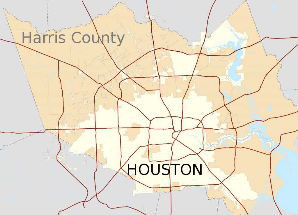 File:map Of Houston Texas And Harris County.svg - Wikimedia Commons - Harris County Texas Map