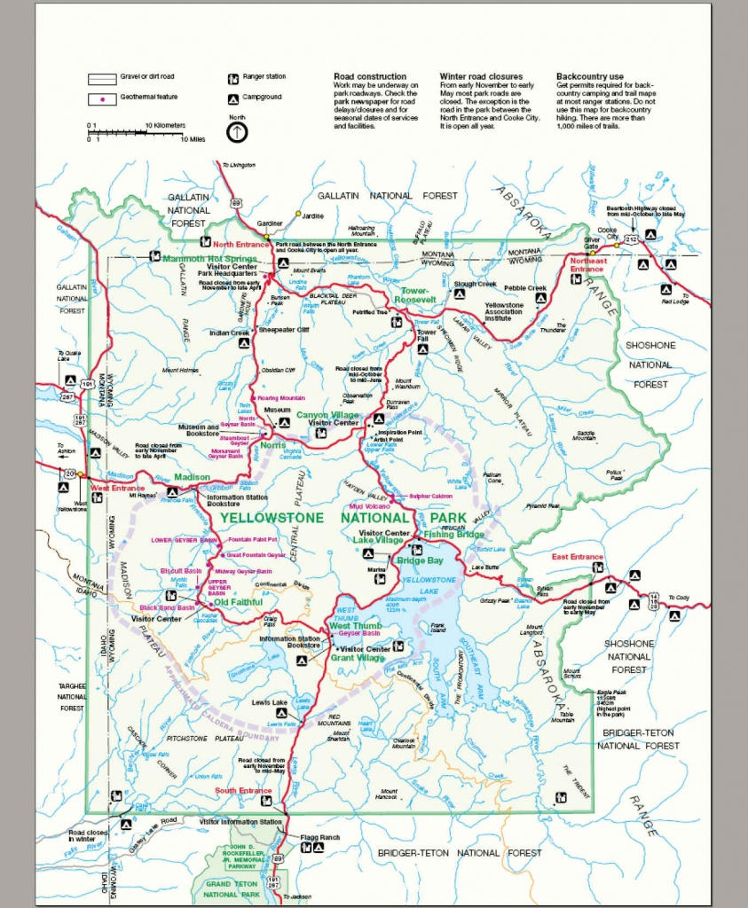 File:map Yellowstone National Park - Wikimedia Commons - Free Printable Map Of Yellowstone National Park