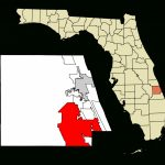 File:st. Lucie County Florida Incorporated And Unincorporated Areas   Map Of Florida With Port St Lucie