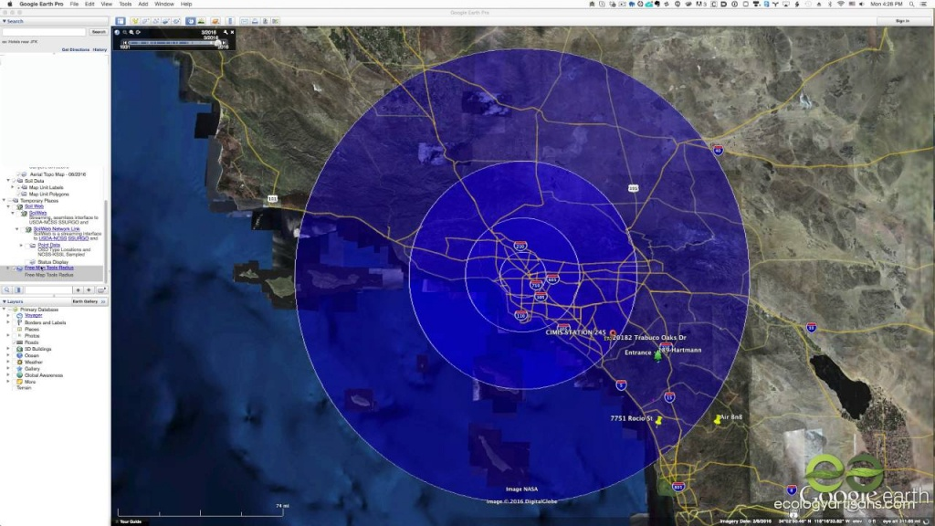 Find A Radius Around A Point On Google Maps - Youtube - Printable Radius Map