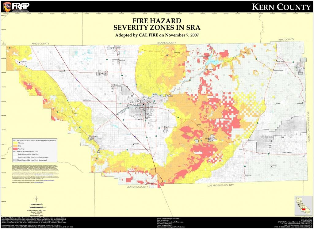 Fire Hazard Severity Zones Kern County California Map - Bakersfield - California Fire Zone Map